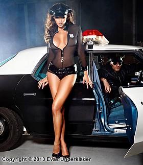 polisuniform maskerad underkläder plus size